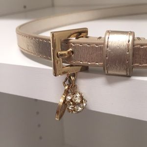 Lilly Pulitzer skinny belt with charm